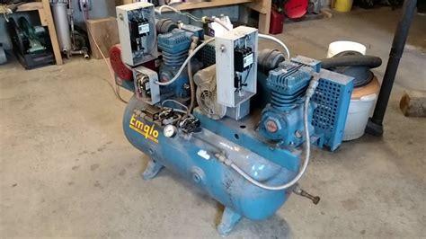 emglo dual pump air compressor  run youtube