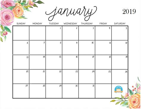 2018 Monthly Calendar Template Psd january 2019 calendar psd free template template