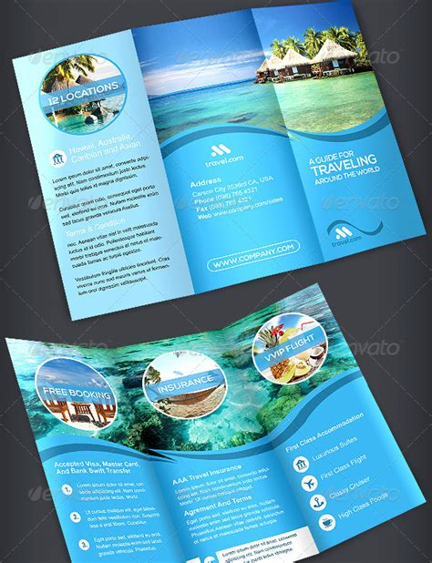 brochure travel agency tri fold template by artbart dribbble