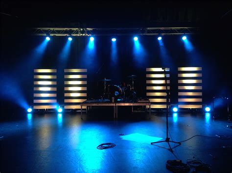 led stage lighting for churches floating lines church stage design ideas