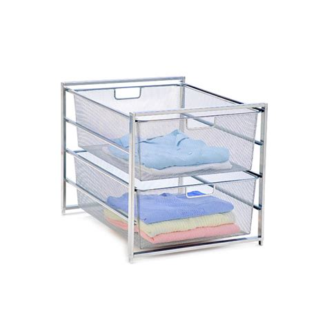 Container Store Elfa Drawers by Platinum Elfa Mesh 2 Drawer Unit The Container Store