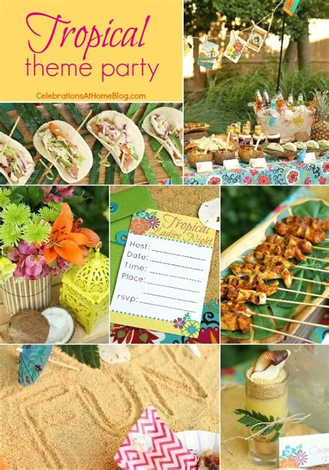 tropical themed entertaining tropical themed ideas free