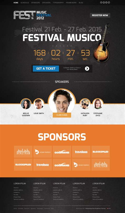 fest joomla template for music festivals congresses or