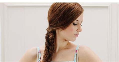 tutorial tata rambut kepang tutorial gaya rambut kepang ekor ikan