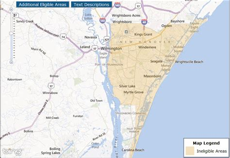 wilmington nc map usda loans wilmington nc ogden and leland