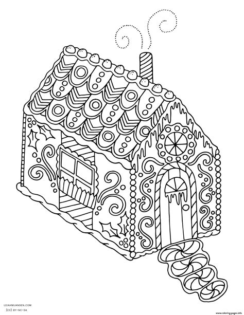 christmas coloring pages gingerbread house gingerbread house christmas adult coloring pages printable