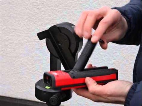 레이저 거리 측정기 disto s910을 헤드 fta360과 삼각대 tri 70에 셋업하는 방법