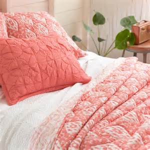 Coral Colored Decor District17 Varkala Coral Quilt Quilts Amp Coverlets