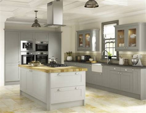 Hand Painted Kitchen Islands country shaker oak castle grey 24 finishes mykitchens