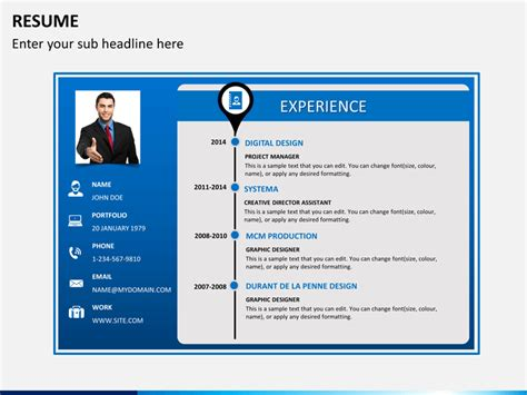Best Resume For 1 Year Experience by Professional Resume Powerpoint Template Sketchbubble