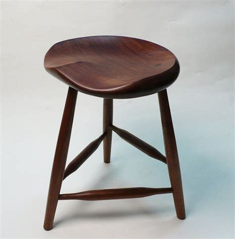 Guitar Stool by Black Walnut Tripod Stool 18 Quot Small For Guitar Players