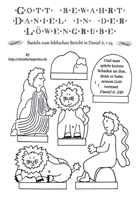 basteln daniel  der loewengrube schule religionideen
