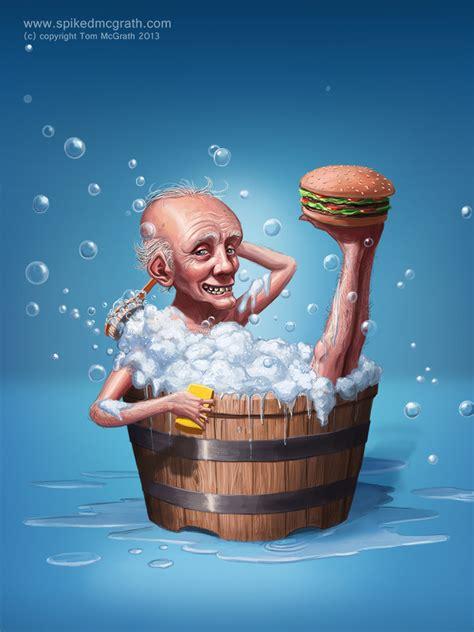 the bathtub man never too clean tom mcgrath freelance artist