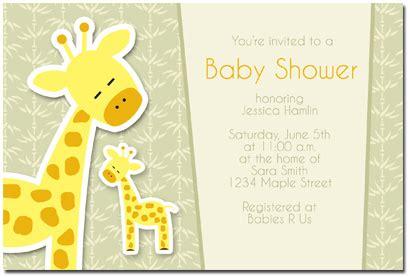 giraffe baby shower invitations template baby shower invitations giraffe theme theruntime