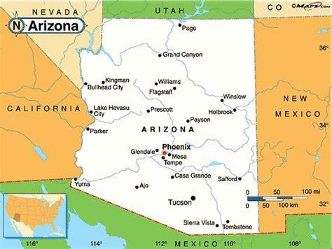 map of arizona and surrounding areas map of arizona cities maps arizona maps