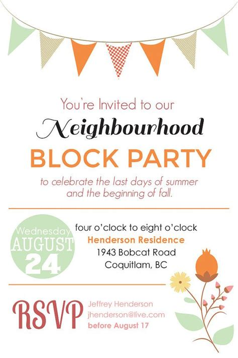 17 best ideas about block party invites on pinterest