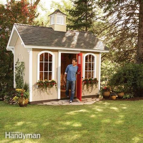 how to build a backyard shed how to build a shed on the cheap the family handyman