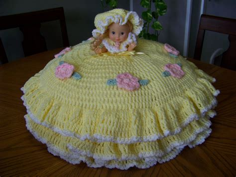 large crochet bed doll pillow