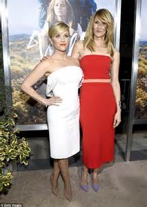 Laura Dern, 47, shares a laugh with on screen daughter Reese Witherspoon, 38, at Wild movie