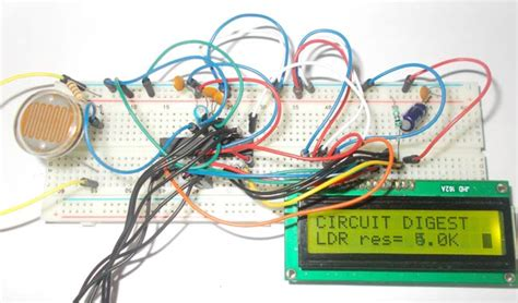 photoresistor uv light intensity measurement using ldr and avr microcontroller