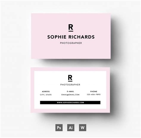 business card format template business card template business card template freepik
