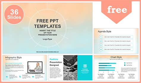 Pastel Watercolor Painted Powerpoint Template Best Site For Powerpoint Templates