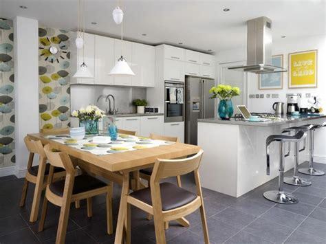 Charmant Idee Deco Cuisine Ouverte Sur Salon #1: cuisine-ouverte-table-bois-salle-a-manger.jpg