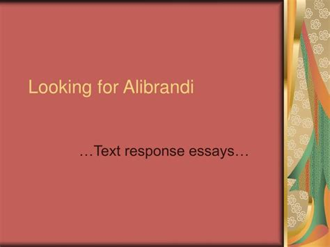 Looking For Alibrandi Essays by Ppt Looking For Alibrandi Powerpoint Presentation Id 1255341