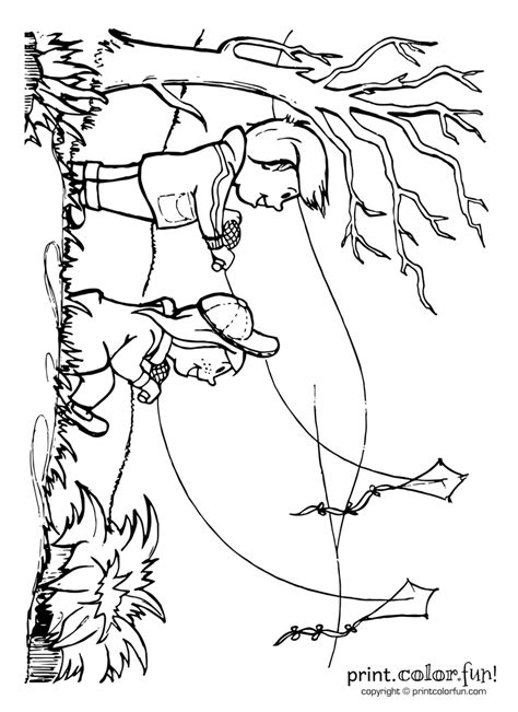 Free People Flying A Kite Coloring Pages Coloring Pages Kite Flying