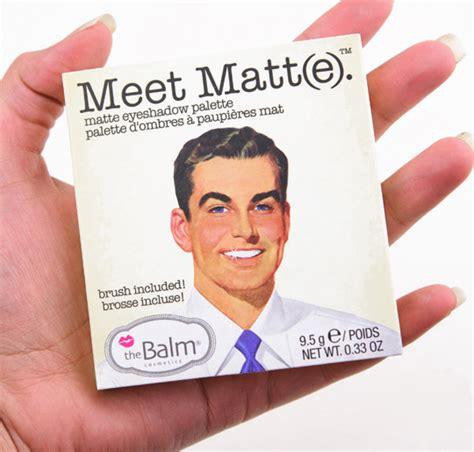Meet Mat by Thebalm Meet Matt E Eyeshadow Palette Review Photos