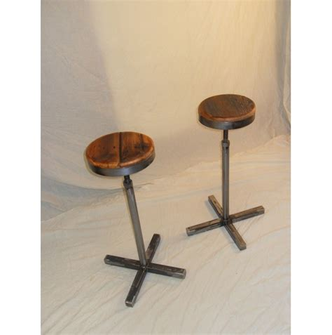 Handmade Bar Stools - handmade reclaimed wood steel bar stool aftcra