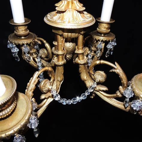 Wonderful French Empire Medusa Dor 233 Bronze Crystal Medusa Chandelier