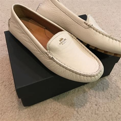 white coach loafers 30 coach shoes chic brand new coach leather