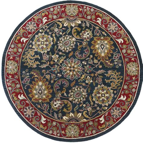 8x8 wool rug st croix trading made wool kashan 8x8 rug 169197 rugs at sportsman s guide
