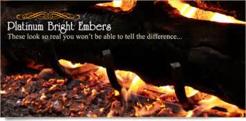 glowing embers for gas fireplace starters bellows platinum embers