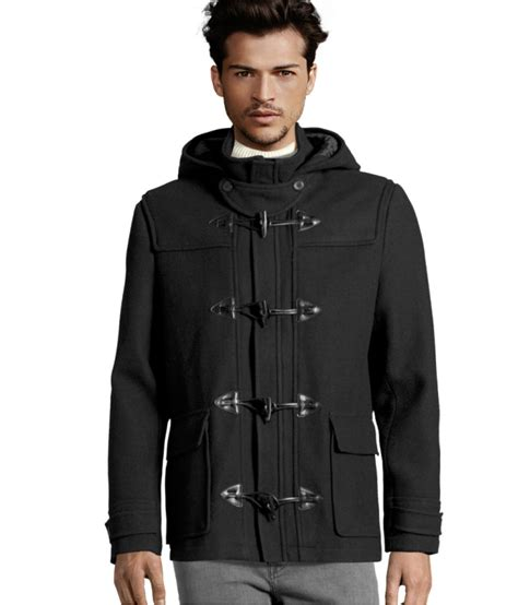 h m coat in black for lyst