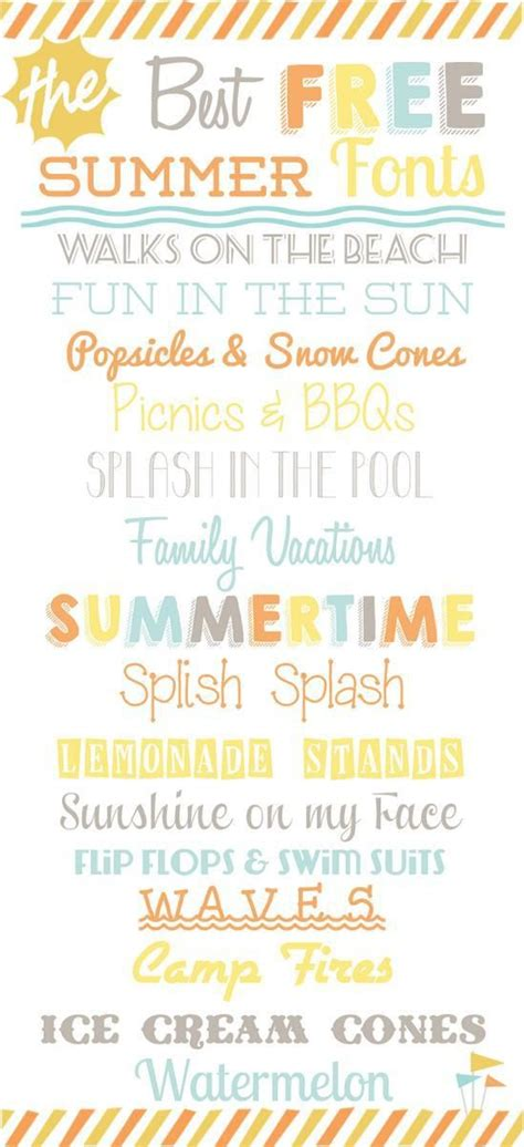 printable beach fonts best free summer fonts collection perfect for design diy