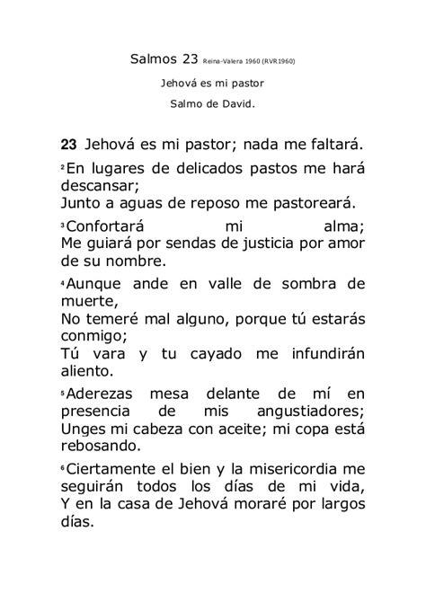 predica el salmo 23 salmos 23 reina