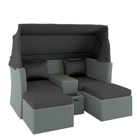 outdoor sofa with canopy buy marquis pe wicker modular outdoor sofa set w canopy