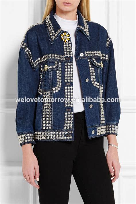Harga Jaket Perempuan Merek oversized dihiasi denim jaket untuk anak perempuan dan
