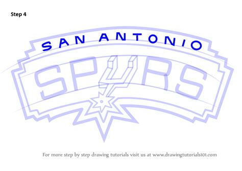 learn how to draw san antonio spurs logo nba step by