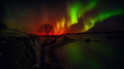 Nothern Lights by Wallpaper Borealis Northern Lights Hd 5k Nature