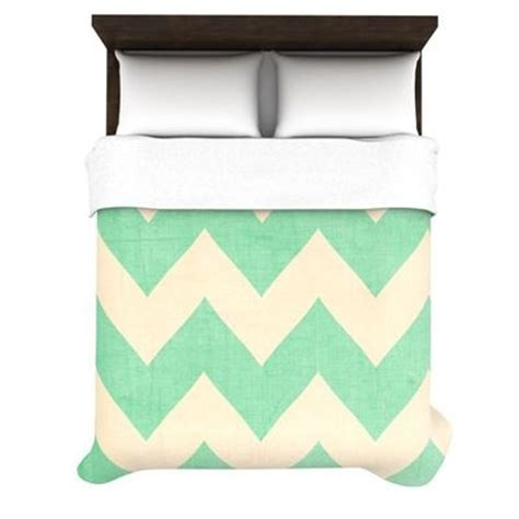 Malibu Mint Green Chevron Bedding For My Closet Juxtapost