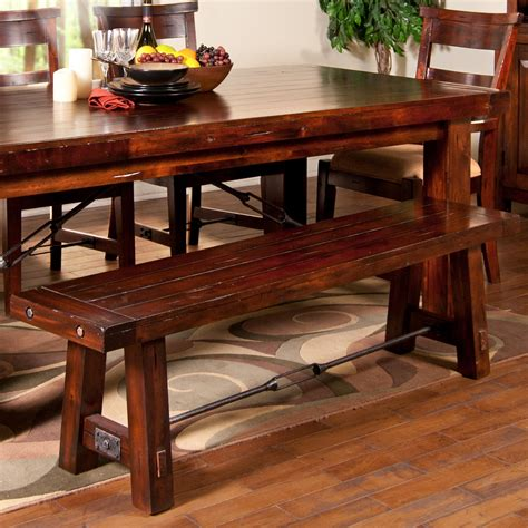 wooden dining table with bench seats dining bench with wood seat and metal stretcher by sunny