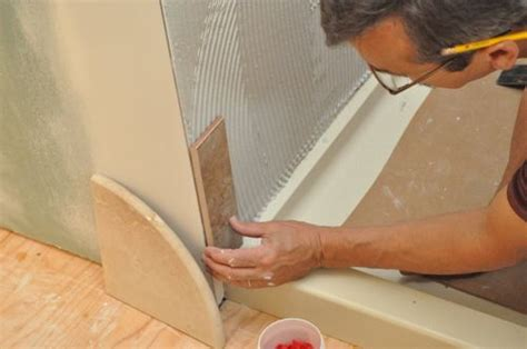 How To Cut Floor Tiles Around Corners by How To Tile A Bathroom Shower Walls Floor Materials