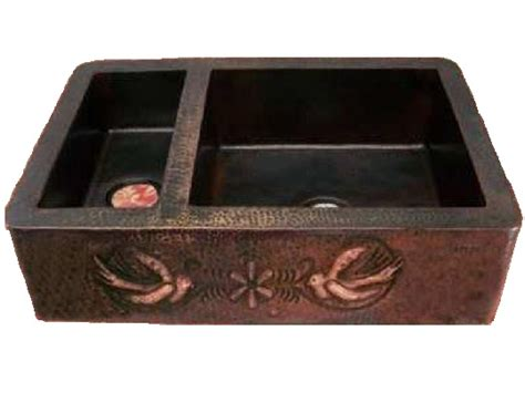 Copper Kitchen Sinks For Sale by Copper Farmhouse Sink 75 25 Bird Design Apron 33x22x9