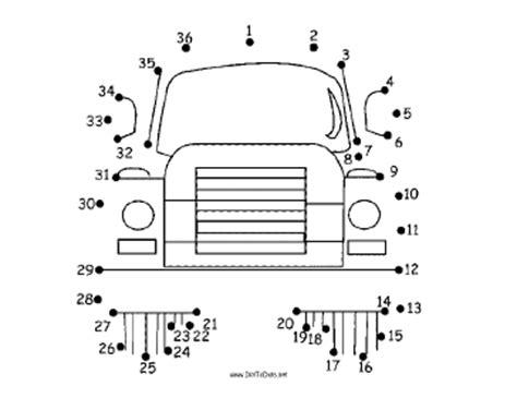 printable dot to dot truck printable truck dot to dot puzzle
