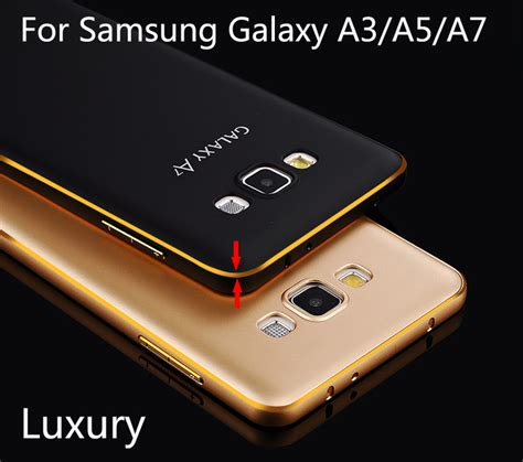 Bumper Samsung Galaxy A3 Aluminium List With Back Limited 1 luxury metal phone for samsung galaxy a3 a5 a7 paint aluminum frame protector back