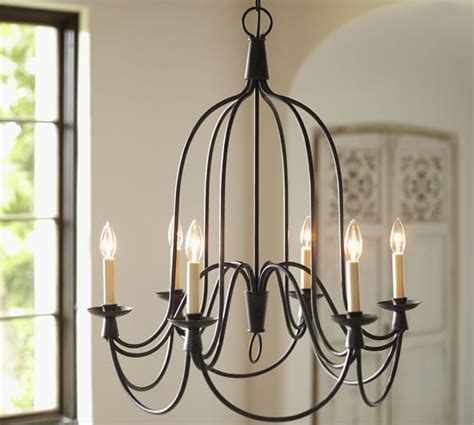pottery barn lighting chandeliers armonk 6 arm indoor outdoor chandelier pottery barn