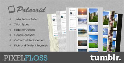 polaroid theme by pixel floss themeforest